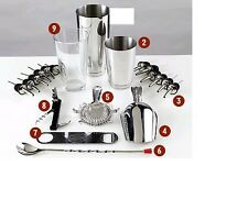 Attrezzatura Barman Bartender Shaker 20 pezzi Kit Inox  kit barman