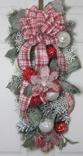 CHRISTMAS Door Swag Teardrop Wreath