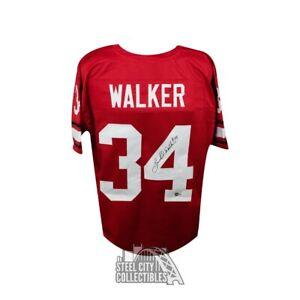 Herschel Walker Autographed Georgia Bulldogs Custom Football Jersey - BAS COA