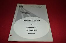International Harvester 815 915 Combine Hydro Reel Lift Operator's Manual AMIL8