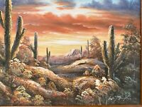 """Exquisite W. Mirkin Original Southwestern Oil Painting Signed 21""""x17"""", MB292"""