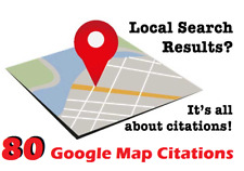 80 Google Map Citations with Backlinks for Local SEO .Get Ranked in Top Google !