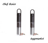TUPPERWARE Chef Series One Hand Salt and Pepper Grinder x 2 Special Offer