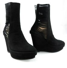 NIB $1425 ANN DEMEULEMEESTER CAGE SLATTED WEDGE BOOTS CUT OUT STRAPS Womens 35 5