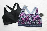 2 New UNDER ARMOUR Padded Crossback 2.0 Women's Athletic Sports Bra Lot LARGE L