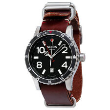 Nixon The Diplomat Black Dial Brown Leather Strap Mens Watch A269019