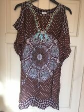 Ladies Oasis Chiffon Dress/ Top Size 8 Patterned
