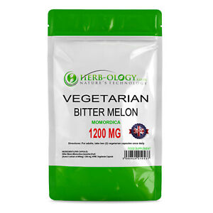 Bitter Melon Capsules Extract Tablets 1200mg Vegetarian Herb-ology
