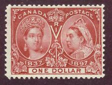 Canada 1897 QV Jubilee $1.00 Lake #61 mlhr