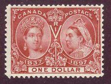 Canada 1897 QV Jubilee $1.00 Lake #61 mlhr