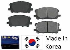 Front Ceramic Brake Pad Set With Shims For Kia Rio 2003-2005