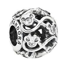 Authentic Pandora Silver Charm Disney Minnie & Mickey Infinity 791462CZ NEW
