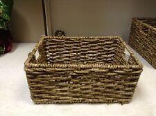 RECTANGLE Seagrass Storage Organizer Toy Bath Office Craft Art Basket 13x10x5 S