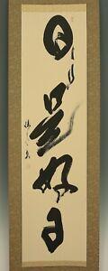 """桜zipang JAPANESE HANGING SCROLL : YANO KEISUI """"Calligraphy""""  @Ix566"""