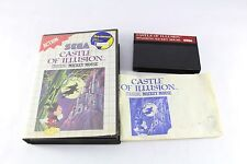 Sega Master System Game Castle Of Illusion Mickey Mouse Boxed Complete PAL