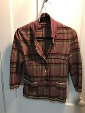 Catherine Andre Multicolor Pink Plaid Blazer. Gorgeous Fit. Hangs Beautifully.