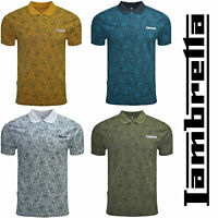 Lambretta Cotton Paisley Polo Shirts Mens Printed T-Shirts Summer Tees UK S-4XL
