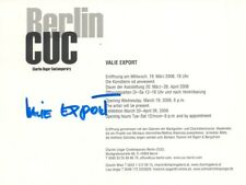 "Valie Export/Waltraud Lehner autograph signed exhibition card 4""x6"" Arist"