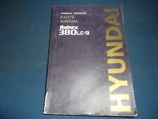 HYUNDAI 380LC-9 EXCAVATOR PARTS BOOK MANUAL