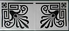 COPPIA di stile Art Deco Gloss Black angolo adesivi murali decorazione (25-07)