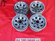 1966-1996 Ford Bronco F150 5x5.5 WHEELS Rims 15 x 7 SPOKE STEEL Caps Trim Rings