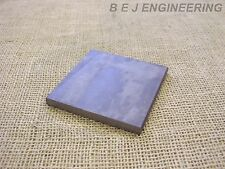 Black Steel Square Plate 100mm x 100mm x 8mm  Fixing-Mounting  - Mild Steel