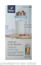 TCM Tchibo Raisin Bran/yogurt To Go Tazza Raisin Bran tazza per gli spostamenti cucchiaio incl.