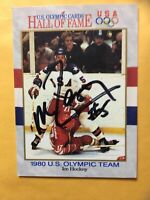 *AUTO MIKE RAMSEY 1991 IMPEL #65 US OLYMPIC CARD HALL OF FAME MIRACLE ON ICE