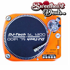 DJ TECH SL1300MK6USB Direct Drive USB Turntable with USB Orange Color