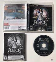 Alice: Madness Returns (Sony PlayStation 3, 2011) CIB