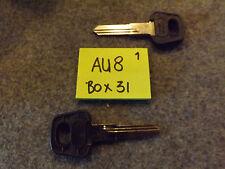 Set of 2 AUDI key blank 80-97 models X139, AU8, V-36, NE62, AU-AH, AD15, WT10