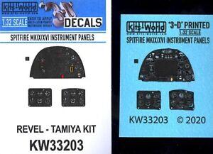 Kits World Decals 1/32 3D INSTRUMENT PANEL SET FOR SPITFIRE Mk.IX & Mk.XVI