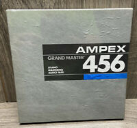 """AMPEX 456 Grand Master Studio mastering audio tape NOS SEALED 1/4"""" By 1200'"""