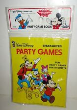 VINTAGE DISNEY CHARACTER HAPPY BIRTHDAY PARTY GAMES FOR 10 GUESTS CARROUSEL