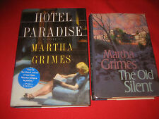 Lot of 2 detective novels Hotel Paradise The Old Silent Martha Grimes Hardcover