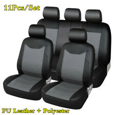 11Pcs/Set Luxury Universal For Interior Decor PU Leather Car Seat Cover Cushions