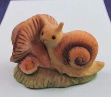 Josef Originals Taiwan Snail with Mushroom Figurine Rare Htf