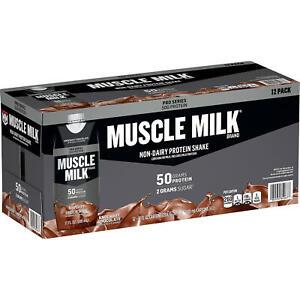 Muscle Milk Pro Series NonDairy Protein Shake, Knockout Chocolate,(17 fl.oz.12pk