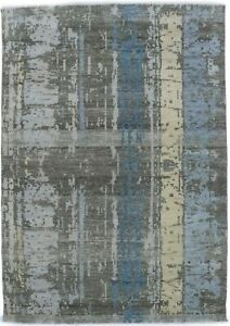 Abstract Modern Design Watched-out 4X6 Distressed Oriental Rug Home Wool Carpet