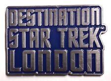 "2012 Destination Star Trek London Metal Pin  1.5"" w Set of 4 Buttons (STPI-DLon)"