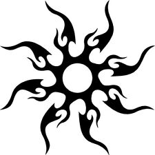 """TRIBAL GOTHIC DECAL SUN 10"""" Decal Sticker for Car Truck Window wall Tatoo Decals"""