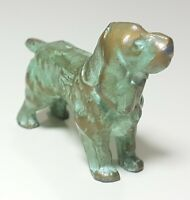 Vintage Antique Bronze Cocker Spaniel Dog Sculpture Statue