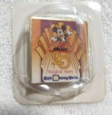 Walt Disney World 20 Magical Years Gold Tone Pin Mickey Mouse Free Shipping