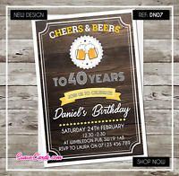 Personalised Birthday Invitations | Party Invites |21st 30th 40th 50th 60th