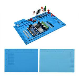 Anti Static Magnetic Heat Insulation Mat Silicone Pad Desk For Solder Repair