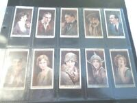 1928 Wills CINEMA STARS movie series 1 Tobacco Cigarette 25 cards complete set