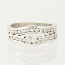 Diamond Enhancer Wedding Band Set - 14k White Gold Ring .80ctw