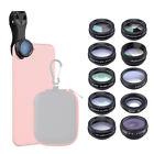 APEXEL 10in1 Phone Phone Camera Lens Kit Wide Angle Lens& Macro Lens+Fisheye