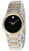 MOVADO Kardelo S-Steel Black Museum Dial Two-Tone Men's Watch 0605481