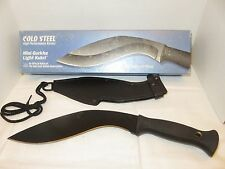 Cold Steel Mini GURKHA LIGHT KUKRI Carbon V Black Epoxy Coated w/Sheath USA